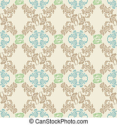 Vector. Seamless floral pattern, ba