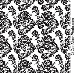 Seamless pattern, ornament floral,