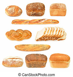 Bread collection - Collection of bread loaves and baguettes
