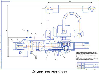 Key hydraulic - Machine-building drawing. Key hydraulic....