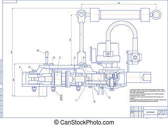 Key hydraulic - Machine-building drawing. Key hydraulic....