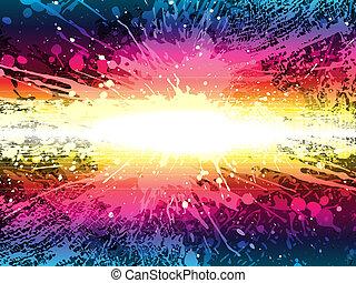 glowing splash, vector