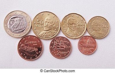 Greek euro coins