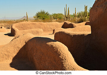 Casa Grande Ruins - Casa Grande National Monument indian...