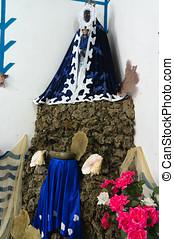 Santeria altar, Trinidad, Cuba