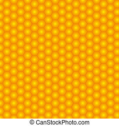 seamless honeycomb vector illustration