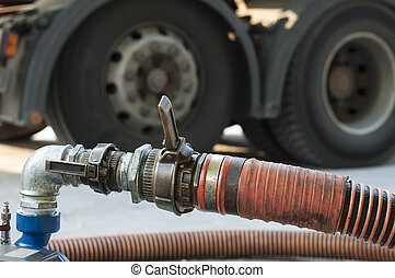 Truck Hoses for fuel station, pumps and oil barrels - Big...