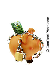 piggy backed with chain and lock - a happy piggy backed with...
