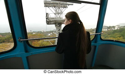 Overhead Cable Car - Overhead Cable Car. Ai-Petri, Crimea,...