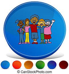 Children Diversity Gemstone Button Set