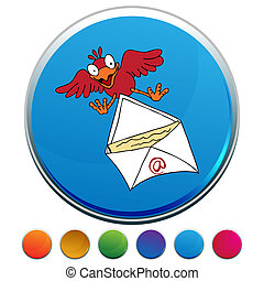 Bird Delivering Email Button Set