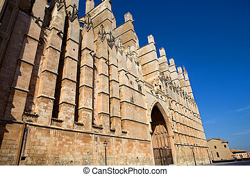 cathedral - Detail of Mallorca cathedral, in Palma de...