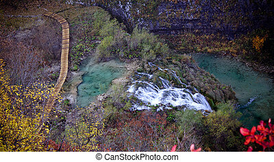 Plitvice lakes paradise waterfall and nature