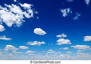 blue sky and white clouds...