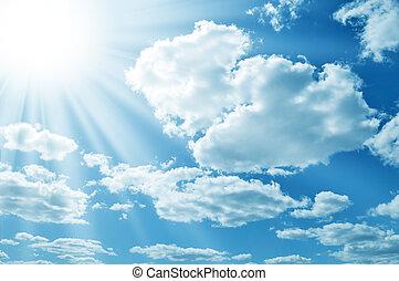 sun on blue sky