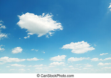 sky - blue sky and white clouds