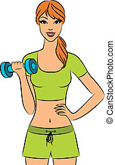 beautiful fitness woman - Vector beautiful fitness woman...