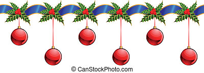 Beautiful Christmas garland. Vector