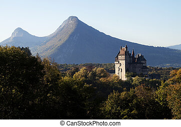 Castel of Menthon, near Annecy, France - Castel of menthon...