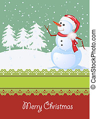 Christmas card, winter celebration - Winter celebration card...