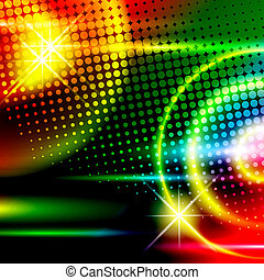 Disco background - abstract multicolored disco background