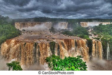 Iguasu falls - View of the Iguasu falls , Iguasu falls are...