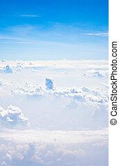 azul, escénico, nubes, cielo
