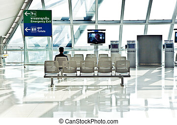 passenger waiting for departure in the new Airport...