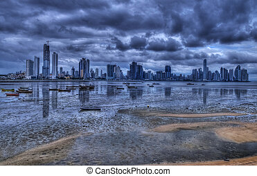 Panama city - View of the coastline of Panama city