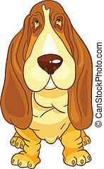 caricatura, carácter, perro
