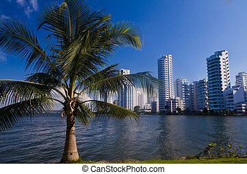 Boca grande - Cartagena de Indias - View of Boca Grande in...