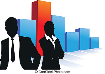 business people silhouette background
