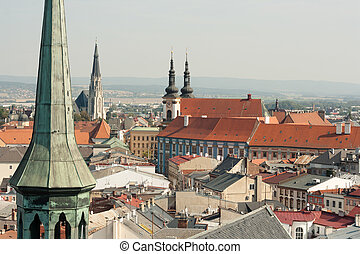 View of the city of Olomouc, Czech Republic