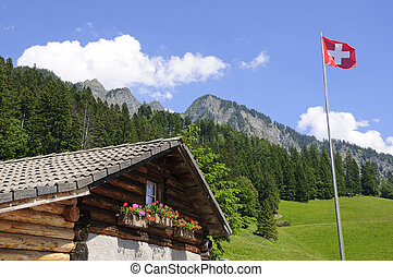 Heidi Alp in Maienfeld, Switzerland It is a hut that located...