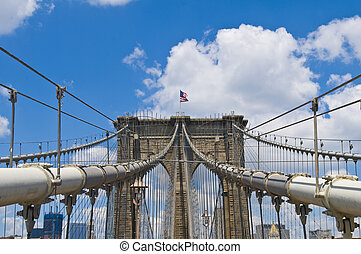 Brooklyn bridge - Architctural details of the Brooklyn...