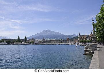 Lucerne, Switzerland - Lucerne (Luzern) is a city in...