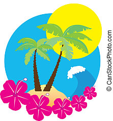 Beach icon - Vector illustration of a beach icon
