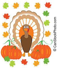 Turkey - Vector illustration of a turkey