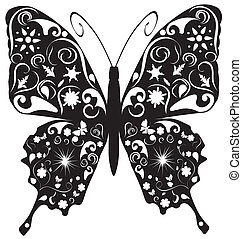 Abstract butterfly - Vector illustration of a butterfly