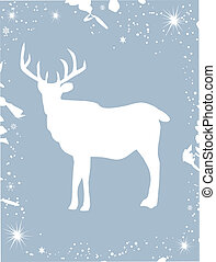 Reindeer - Vector illustration of a reindeer card