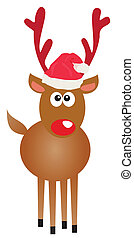 Rudolf - Vector illustration of a funny Rudolf