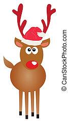 Rudolf - Vector illustration of a funny Rudolf