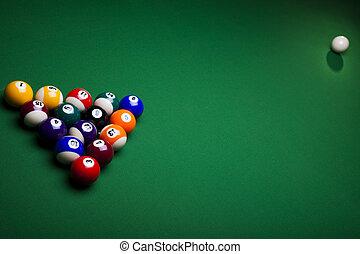 Playing pool  - Billiard game