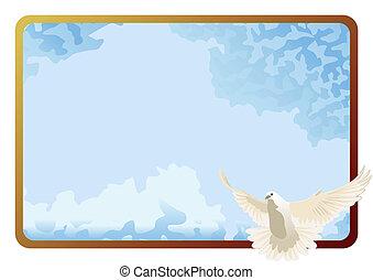 A white dove