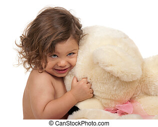 Hug - Child hugging his bear
