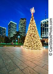 Miami Christmas Tree - Christmas tree in Miami Bayfront...