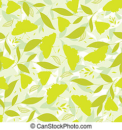 Yellow butterfly, seamless background