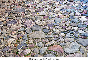 Cobblestone surface background