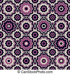 Seamless geometric pattern - Violet and gray-pink seamless...