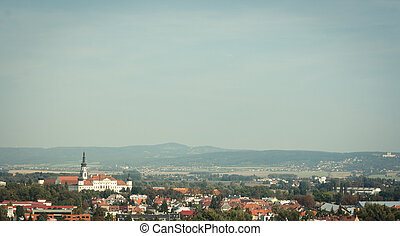 Panoramatic view of the Hradisko monastery in Olomouc, Czech...